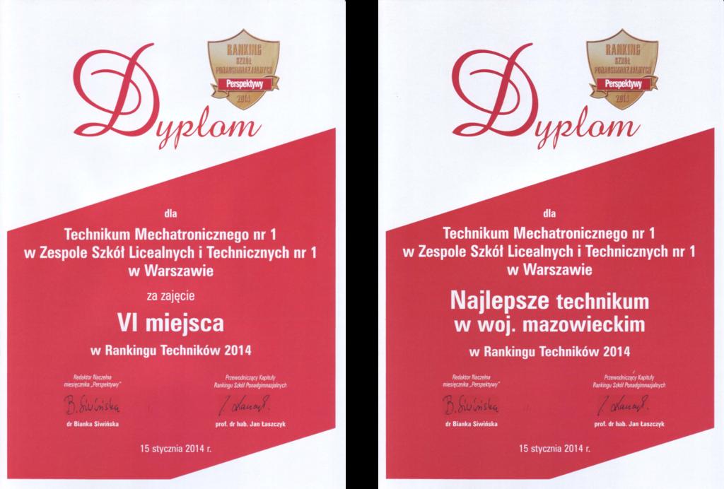 PERSPEKTYWY 2014 Technikum Mechatroniczne Nr