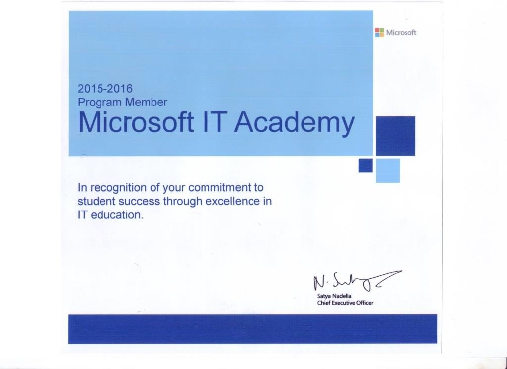 status Microsoft IT Academy