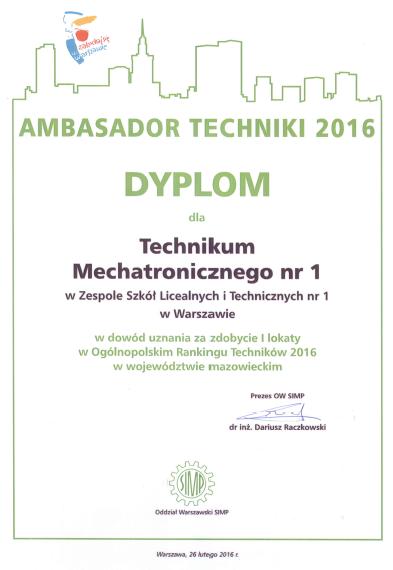 Ambasador Techniki 2016