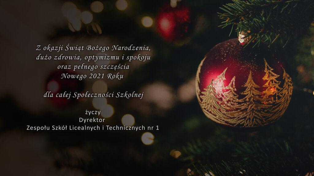 Świąteczne życzenia z okazji Bożego Narodzenia
